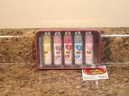 Jelly Belly Flavored Lip Balm Set Of 5 In Tin Sealed NEW