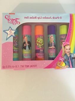 JoJo Siwa Jumbo Lip Balm Set Girls 5 Pack Nickelodeon NEW