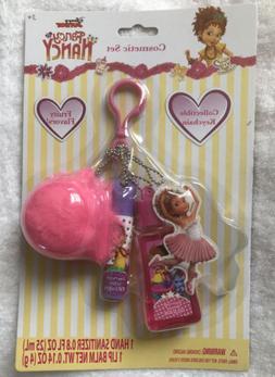 Disney Junior Fancy Nancy Fur Ball Keychain Lip Balm Sanitiz