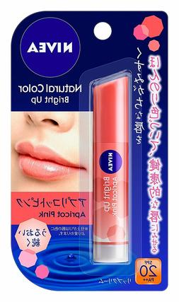 KAO  Nivea Natural Color Bright Up Lip Balm 3.5g - Apricot P