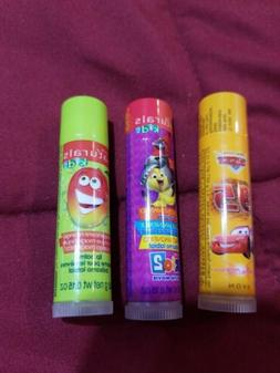 AVON KIDS LIP BALM - CARS AND NATURAL - LOT OF 3 - SEALED -