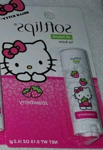Hello Kitty SoftLips Natural Lip Balm Strawberry Flavor seal