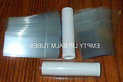 100 clear SHRINK WRAP BANDS for lip balm  tubes - safety sea