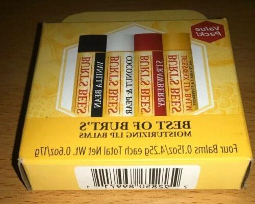 100 percent natural moisturizing lip balm multipack