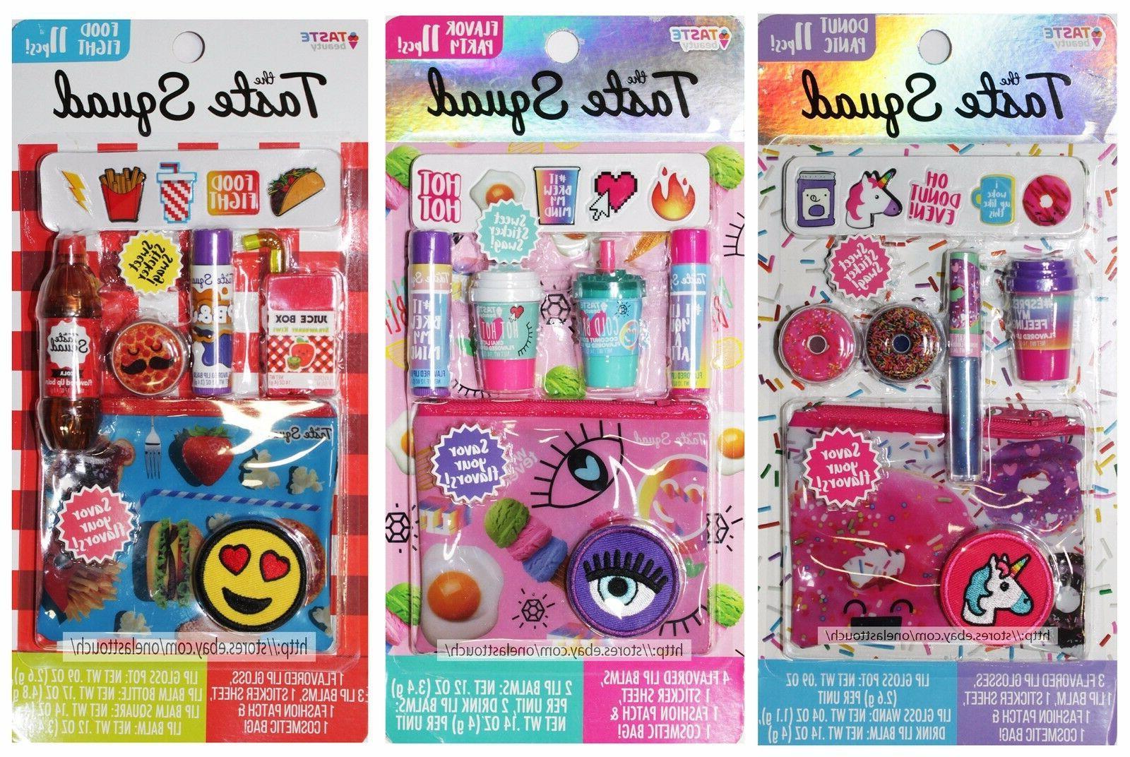 TASTE BEAUTY*11pc Set TASTE SQUAD Lip/Gloss Balm+Stickers+Ba