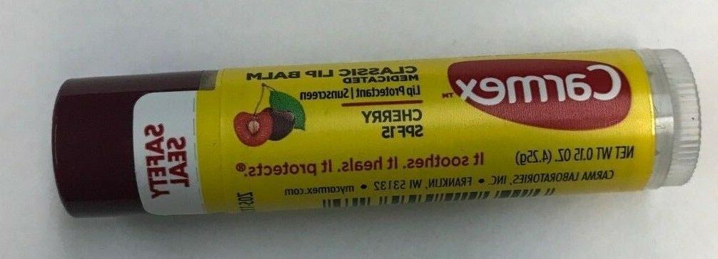 12 cherry moisturizing medicated lip balm stick