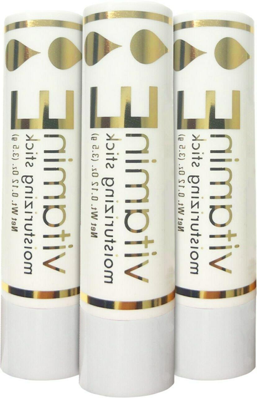 3 x Naturally Pure Vitamin E Moisturizing Sticks 3.5 grams A