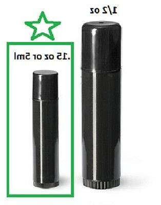 .15 OZ black CHAPSTICK LIP TUBES with lids - 50 - free