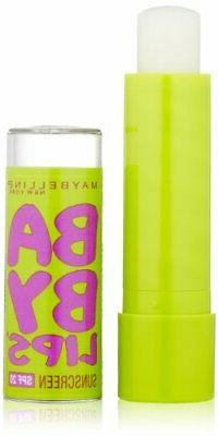 1pc Maybelline New York Baby Lips  Lip Balm, Peppermint, 0.1