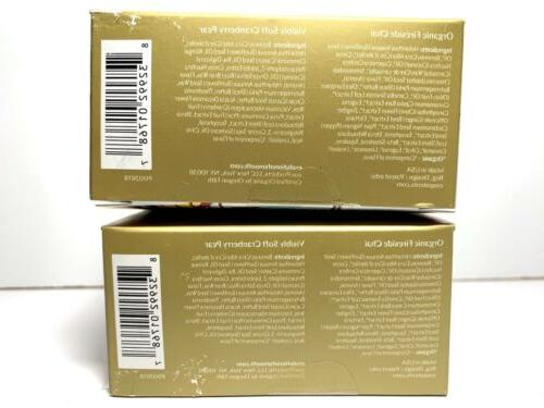 2-EOS Limited Edition Balm Fireside Visibly Cranberry Pear New
