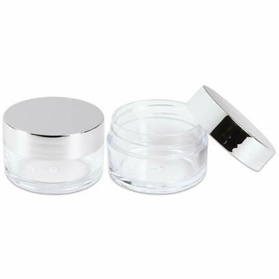 Beauticom Acrylic Round Clear Jars with Balms, Make