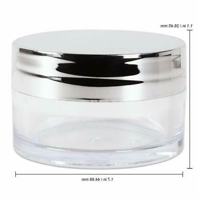 Beauticom 20g 20ml USA Acrylic Round Jars with Lids for Balms, Make