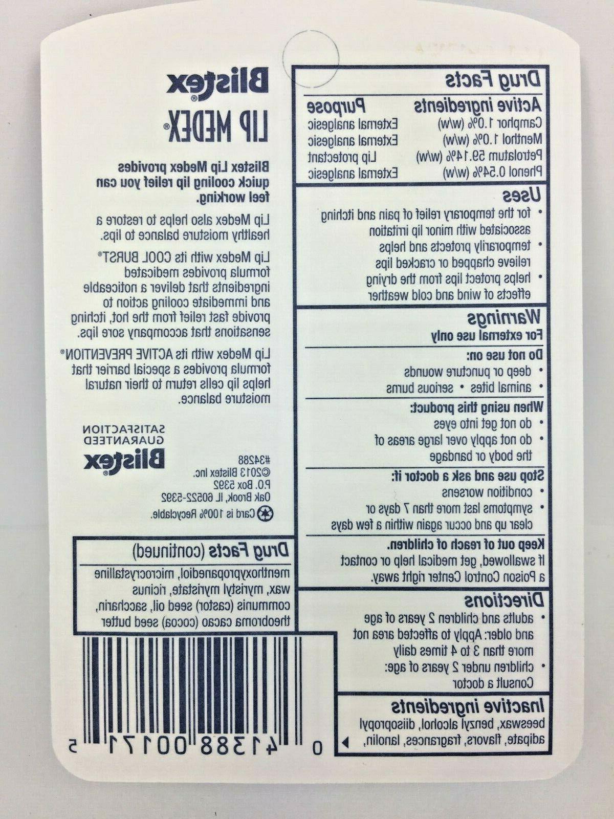 3 Pack Medex 0.25 OZ. Relieves