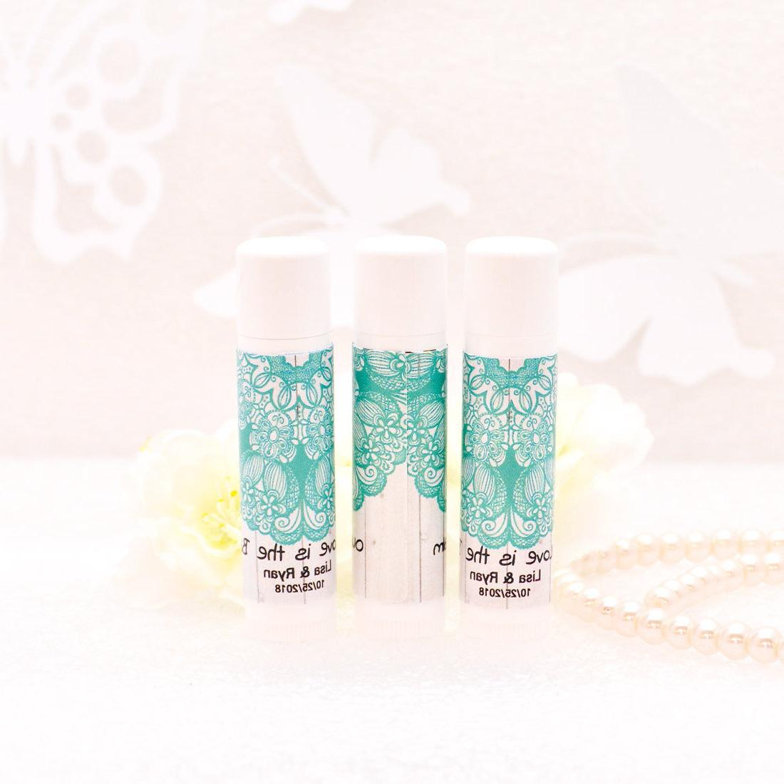 30 Rustic Lip Balm Labels, Aqua Chapstick Labels Custom Part