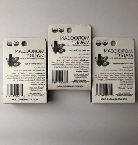 3x Balm Argan USDA Organic .15oz Lot