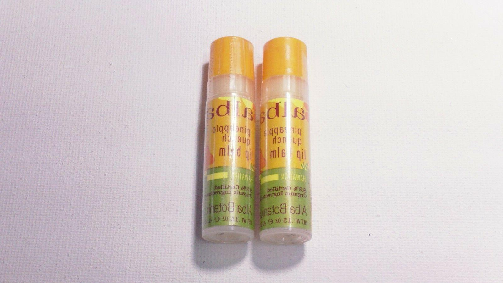 4 BOTANICA PINEAPPLE QUENCH LIP BALM HAWAIIAN sealed NIP