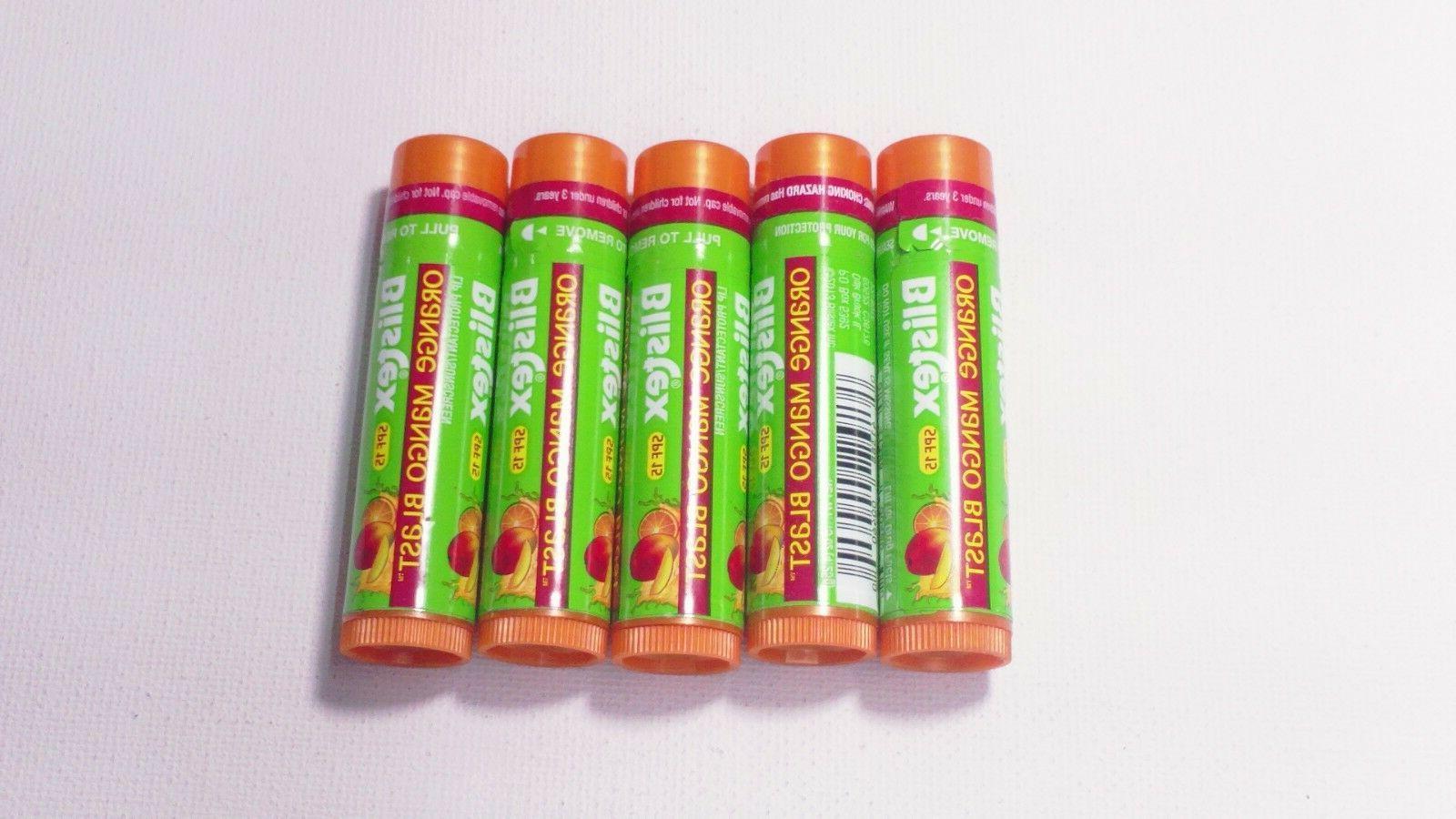 5 balm lot orange mango blast lip