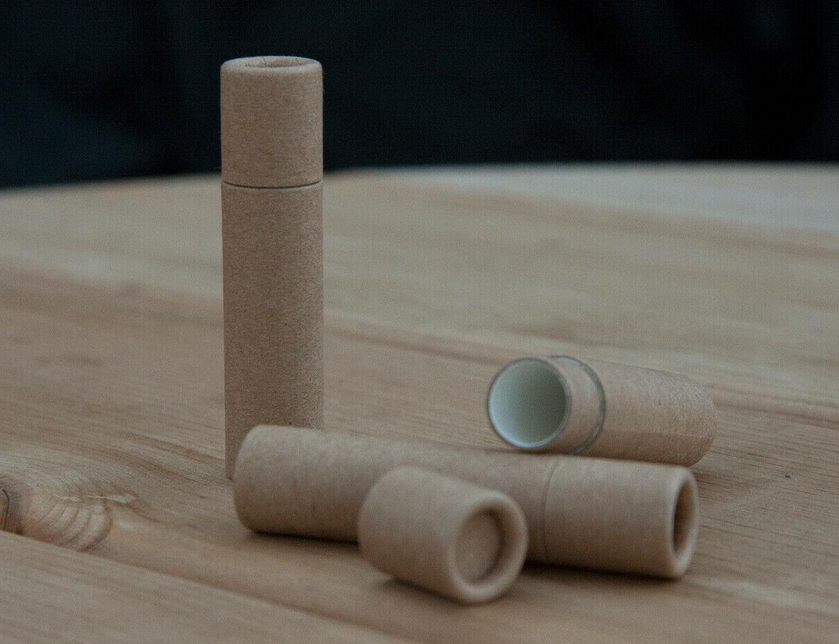 50 brown cardboard lip balm tubes 6ml