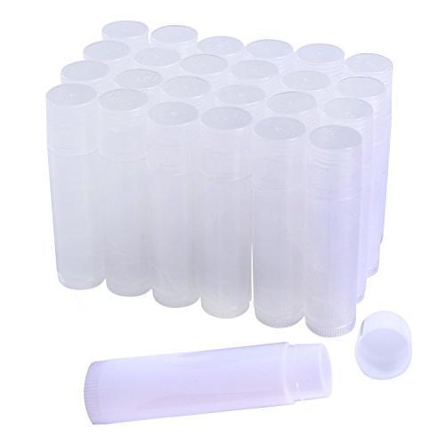 25 lip balm tubes