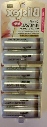 6 PACK Blistex Deep Renewal Lip Protectant, SPF 15, 0.13oz