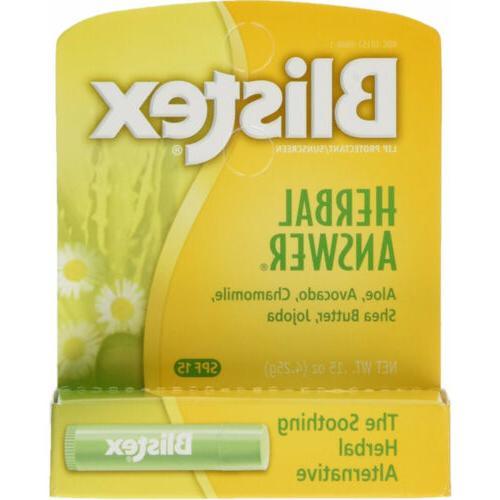 6 PACK Blistex Balm Herbal 15 0.15 oz