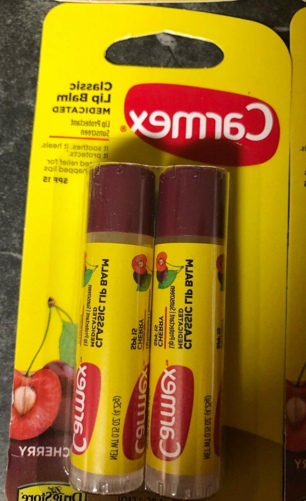 8 Sticks CARMEX LIP BALM SPF15 Exp. 06/2020-09/2020
