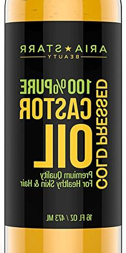 Aria Starr Castor Oil Cold Pressed - 16 FL OZ - BEST 100% Pu
