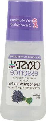 Crystal essence Deodorant Roll-On, Lavender and White Tea 2.