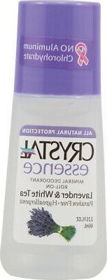 Crystal essence Deodorant Roll-On, Lavender and White Tea 2.
