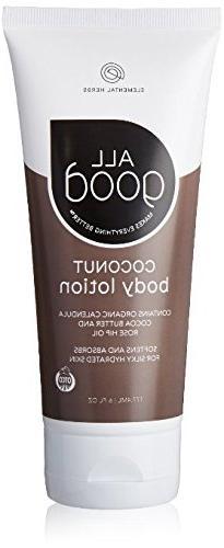 Elemental Herbs - All Good Body Lotion Coconut - 6 oz.