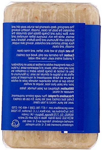 JACK Turbo Body Bar Scrubbing Soap – Rock, Moisturizing Shea Butters, Aroma Senses, 6