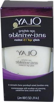 OLAY ANTI-WRINKLE UV LOTION 3.4 OZ