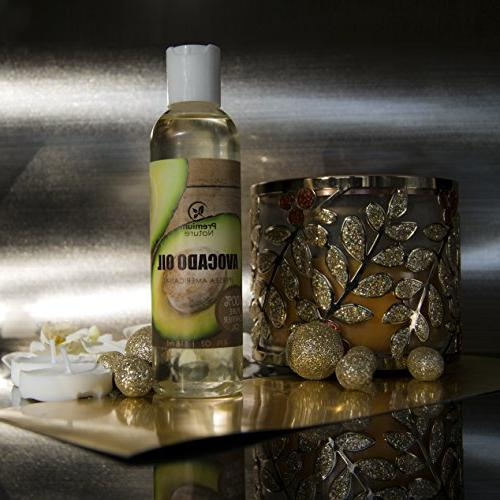 Avocado Carrier Oil - Massage Oil Skin - Skin Hair - Moisturizing Prevents Aging Treats Irritated Skin