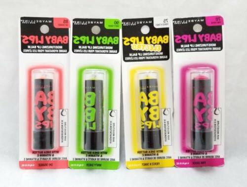 baby lips moisturizing lip balm 4 pack