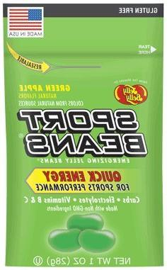 SPORT BEANS Variety 1 - Assorted, Green Apple, Pear & Banana - Pack Naturally a Jarosa Peppermint