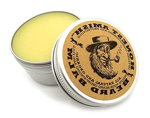 Honest Amish Beard Balm Leave-in Conditioner - with and Organic Ingredients - Ounce