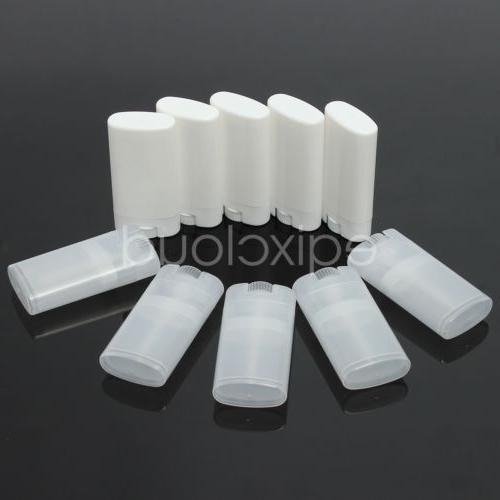 Bulk 15g 1/2oz Clear/White Empty Oval Flat Tubes Deodorant L