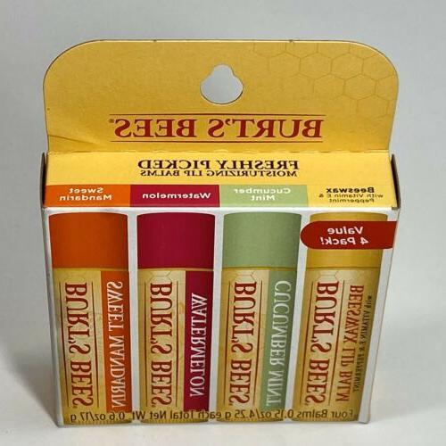 Burt's Lip Balm 4 Pack -