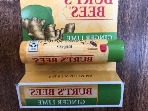 Burt's Ginger Lime lip balm Moisturizing 100% Natural .15oz Made USA NEW