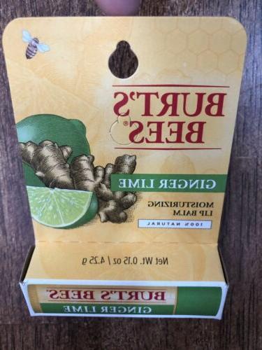 Burt's Bees Lime lip balm Moisturizing Natural In USA NEW