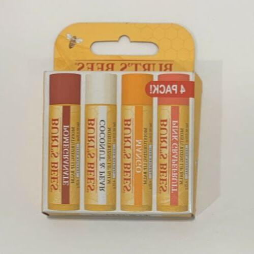burts bees superfruit lip balm 4 pack