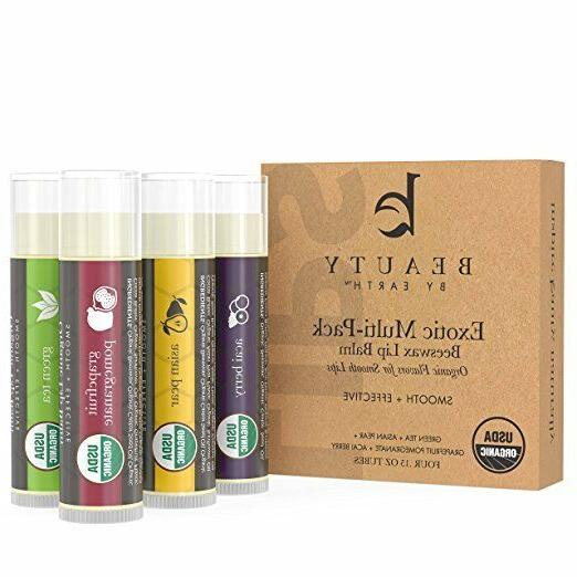 certified organic beeswax lip balm pack of
