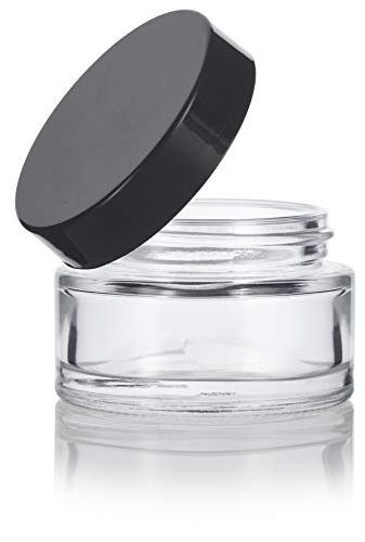 Clear Glass 1 30 ml Wall Balm Jars with Foam Lined Smooth