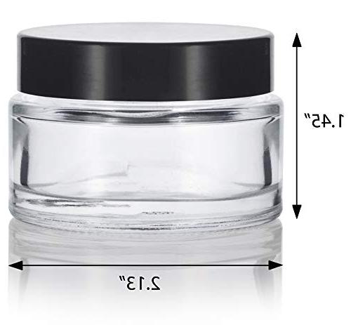 Clear Glass oz/ 30 Thick Balm with Black Foam + Spatulas