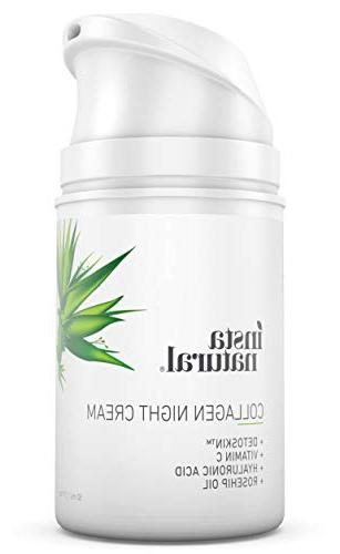 Collagen Cream Anti Wrinkle Moisturizer for & Neck- Helps of & Lines & InstaNatural