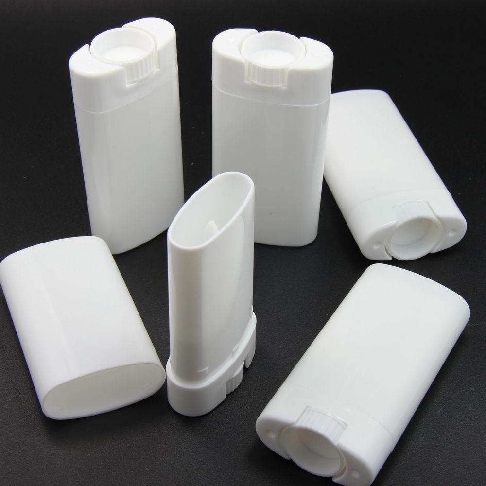 TOPWEL 10pcs 15ml Deodorant Containers White Empty Plastic O