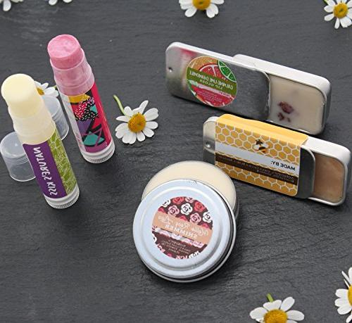 DELUXE Lip Balm with Making Your Very Clear Colored DIY Lip Tubes, Bees 100% Pure Oils More