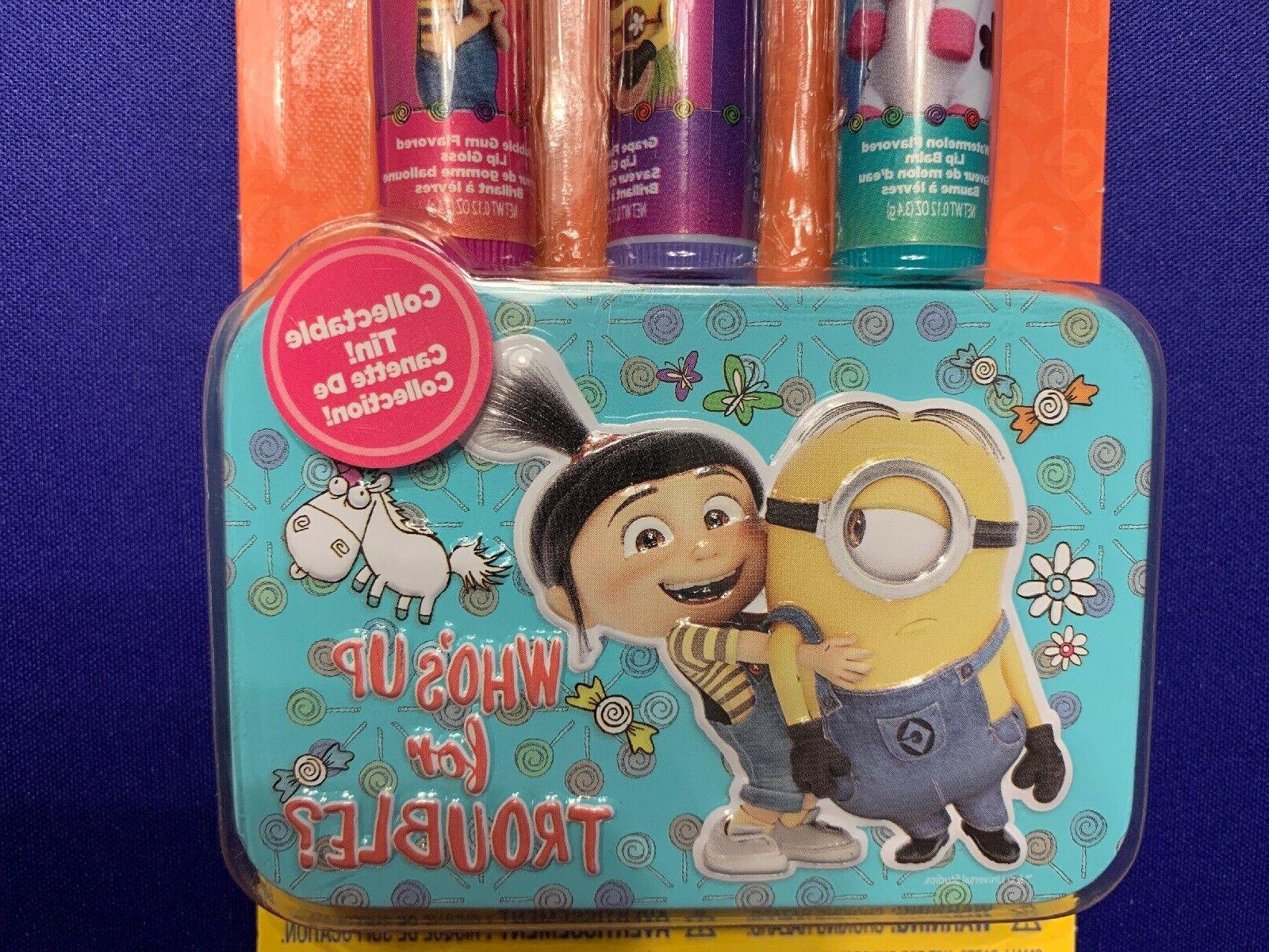 Despicable Me Balm Trio Box Grape Bubble Gum