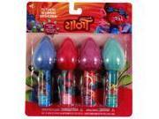 Dreamworks Trolls 4pk Lip Balm Colorful Hair Topper