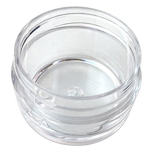 Beauticom 12 USA Acrylic Round Jars Lip Balms, Creams, Make Up, Cosmetics, and other Beauty
